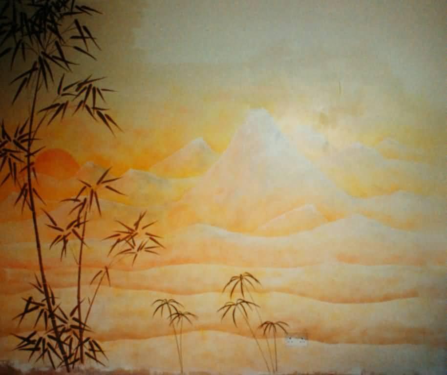 Sunset painting london