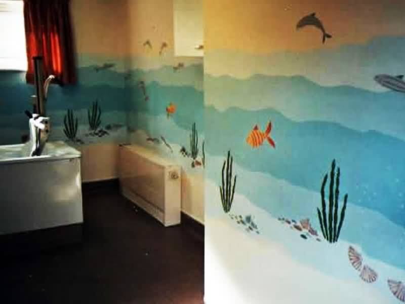 bathroom painting in north london care home