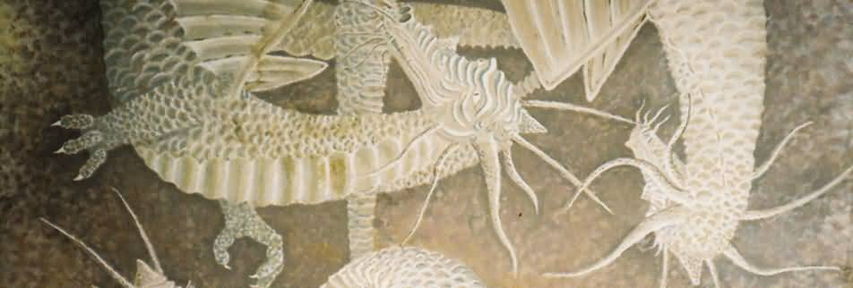 Dragon Mural (detail) - On bathroom ceiling